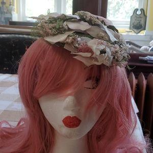 Sally Victor NYC Floral Vintage Hat